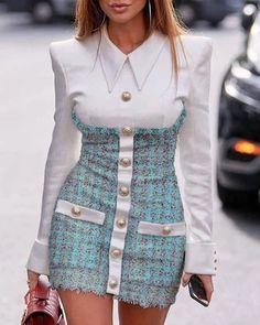 Women's Fashion Bodycon Kleider Online Shopping – Chic Me Trend Fashion, Look Fashion, 90s Fashion, Runway Fashion, Womens Fashion, High Fashion Looks, Unique Fashion Style, Modern Fashion, Fashion Online