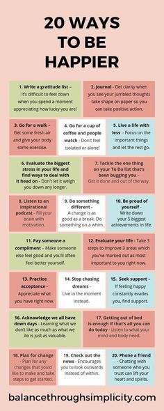 Check out this post on 20 ways to be happier. Simple and intentional ideas to improve your mindset and mental health, feel more positive and resilient for what life throws at you. Positive Mindset, Positive Affirmations, Positive Vibes, Positive Quotes, Feeling Down, Feeling Happy, Vie Motivation, Ways To Be Happier, Self Care Activities
