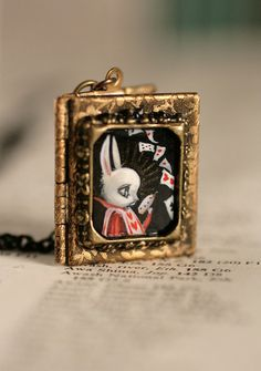 The White Rabbit  - original cameo by Mab Graves by mab graves, via Flickr
