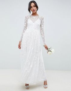 ASOS Edition | ASOS EDITION all over embellished and embroidered wedding dress
