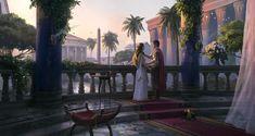 Balcony, Rome, Empire, Scenery, Lovers, Fantasy, History, World, Artwork