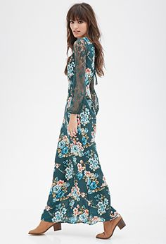 Lacy Floral Maxi Dress | FOREVER21 - 2000130139