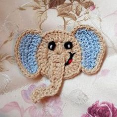Häkelapplikation Baby Elefant