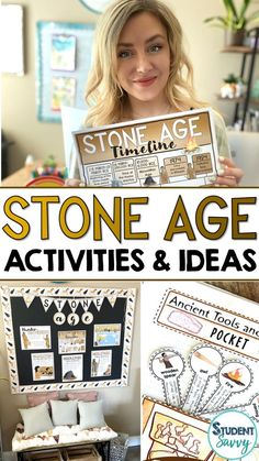 4 Awesome Stone Age Activities for History Teachers! Today I'm sharing some fun ideas and resources for 6th grade teachers planning their Ancient Civilizations Unit. With these resources for history teachers, you'll instantly have a complete plan for a fun, engaging, and rigorous Stone Age unit!