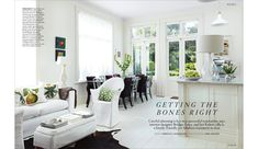 Bridget Foley's new light-filled, open-plan kitchen/living area opens her Wellington villa up to the garden. Living Area, Living Spaces, Living Room, Decorating Your Rv, White Couches, Interiors Magazine, Build Your Dream Home, White Rooms, Contemporary Furniture