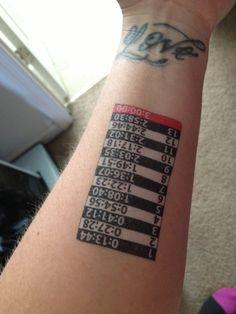 Pace Tattoo - best idea ever!