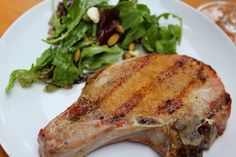 A simple yet very flavorful spice rub makes these Heaven Sent Grilled Pork Chops an easy meal that is sure to please! Pork Ham, Grilled Pork Chops, Pork Chop Recipes, Grilling Recipes, Spice Rub, Wine Recipes, Real Food Recipes, Cooking Recipes, Paleo Recipes