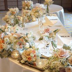 お花のボリュームが大きく見える♡高砂装花の節約には【小さなテーブルを選ぶ】のが一番の近道だった!   marry[マリー]