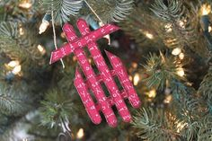 Craft Affection: Popsicle Stick Ornaments!