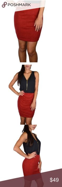 American Apparel Red & Black Mini Skirt | Nice, Cute pattern and ...