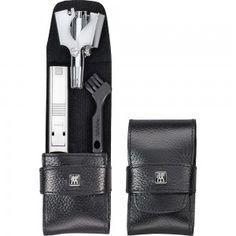 ZWILLING Pocket case, neat´s leather, black, 2 pcs