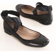 Black ankle strap ballet ballerina flats:  Shop for CHLOE FLATS on Shop Hers