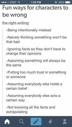 Obvious but good reminders