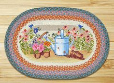 Earth Rugs Planting Time Oval Patch Braided Area Rugs Are A Great Addition For Your Home Or Cabin For That Great Country Feeling!!!! ON SALE NOW!!!!