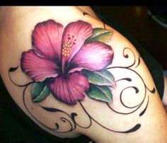 Hibiscus Tattoo Designs tattoos for your new tattoo today the development of tattoo design is 3d Flower Tattoos, Hawaiian Flower Tattoos, Hibiscus Flower Tattoos, Beautiful Flower Tattoos, Hawaiian Flowers, Flower Tattoo Designs, Hibiscus Flowers, Colorful Flower Tattoo, White Hibiscus