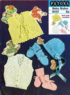 Patons 6431 - vintage baby crochet and knitting pattern  https://www.facebook.com/groups/1512986558934256/