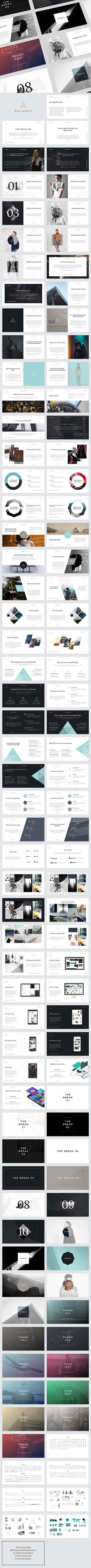 BALANCE PowerPoint Presentation by GoaShape. Price $20 #minimalistpresentationdesign #powerpointpresentationdesign #businesspowerpointtemplate