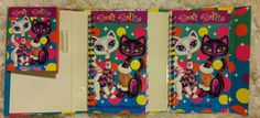 Vintage Lisa Frank Cats Memo Pad//Address by SlimeWarpVintage