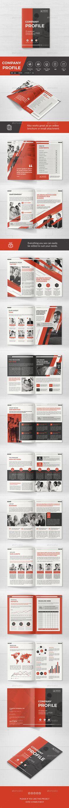 #Company Profile - #Corporate #Brochures Download here: https://graphicriver.net/item/company-profile/19549824?ref=alena994