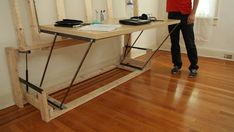 How to build your own transformer bed that turns into a desk : TreeHugger