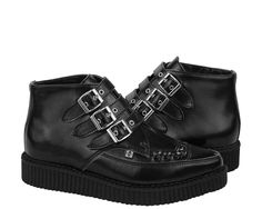 Black Leather Creeper Boots // $95.00