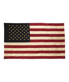 Look at this #zulilyfind! Tea-Stained American Flag #zulilyfinds