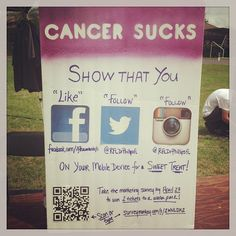 This would be really cool to have people follow your social media outlets at Relay For Life! Relay For Life of Dr. Phillips, FL