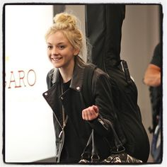 Emily Kinney arrives in Vancouver to star in The Flash as new Bug Eyed Villian, Brie Larvan. SO excited!!