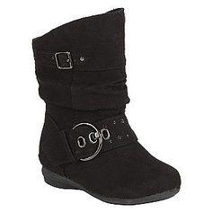 Canyon River Blues -Toddler Girl's Aurora Boot - Black