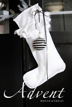black & white-make these stockings for my black & white theme