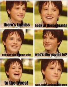 Young Peeta | Josh Hutcherson | hahahaha
