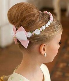 Peinados recogidos elegantes para niñas - Collected hairstyle for childrens