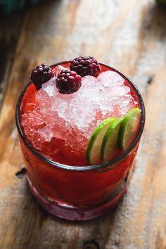 Olallieberry Cocktail: mezcal, lime, agave, St. Germaine, olallieberries