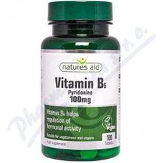 Natures Aid Vitamín B6 100mg pyridoxin 100 tabliet
