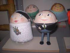 toys noivinhos- papel machê