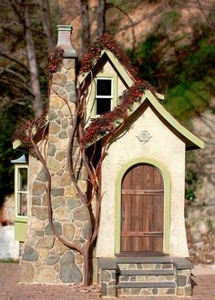 by Randy Hage  The stonework is exquisite on this cottage. I want to try to duplicate.