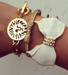 Bows Bracelets - I LOVE bows and the Anne Klein lion head has always been a favorite!!!