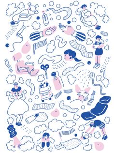 Wonderful illustrations by Japanese artist, Yu Fukagawa. Japanese Illustration, Simple Illustration, Pattern Illustration, Graphic Design Illustration, Ligne Claire, Illustrations And Posters, Lettering, Cute Art, Design Art