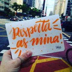 Respeita! #paulista #011 #sketchbook #respeitaasmina #chega #mulheresaluta #respeito