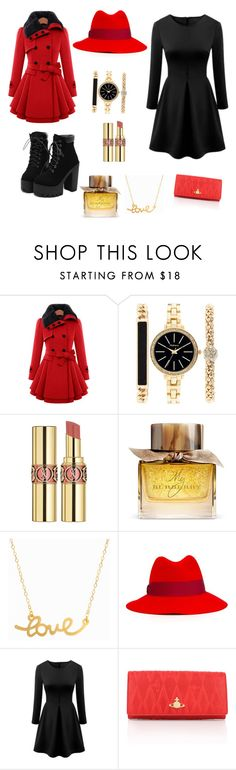 """Untitled #4"" by belmin13 ❤ liked on Polyvore featuring Style & Co., Yves Saint Laurent, Burberry, Minnie Grace, Emilio Pucci and Vivienne Westwood"