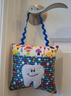 Super Cute Boys Tooth Fairy Pillow Made by LittlePurpleDragonfl, $15.99