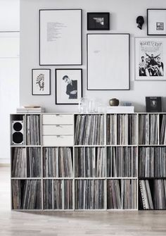 Vinyl collections | Cool cabinets to store your records at the home of Mundadaa blog in Finland                                                                                           More