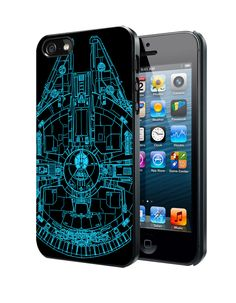 Star Wars Millenium Falcon Samsung Galaxy S3 S4 S5 Note 3 Case, Iphone 4 4S 5 5S 5C Case, Ipod Touch 4 5 Case