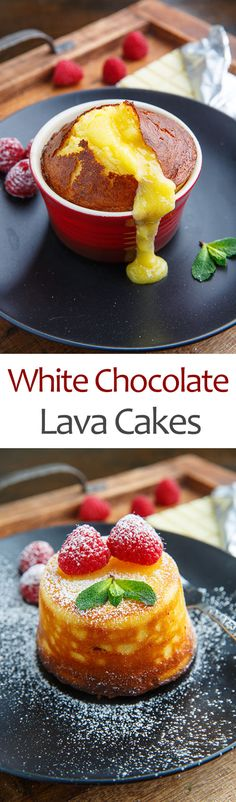 White Chocolate Lava Cakes