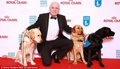 Host with the most...dogs: Comedian Dave Spikey hosted the event which celebrates the work...