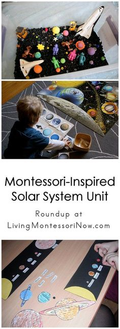 Today I want to share some Montessori-inspired solar system printables and activities from around the blogosphere.