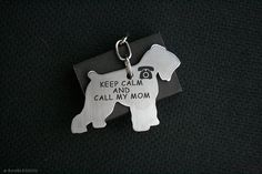 Free Shipping - Black Russian Terrier Tchiorny Schnauzer Dog Tag - Stainless steel - Customized Pet ID Tag - Personalized Pet ID Tags on Etsy, $32.00