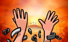 """""""Christus heeft ons bevrijd. Daardoor kunnen we als vrije mensen leven. Houd dus vol en laat niemand je weer slaaf maken."""" (Galaten 5 : 1 - Bijbel in Gewone Taal)"""