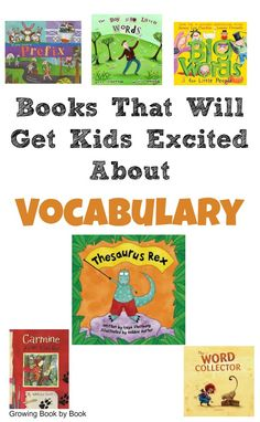 Vocabulary books to excite kids to learn new words and grow their vocabulary.