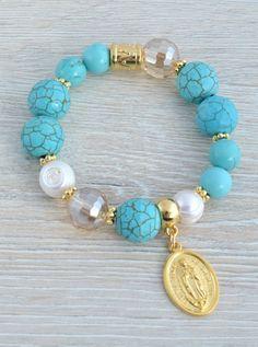 Strang Gemme Perles Howlith Turquoise Bleu colorés environ Balle 10 mm 38 Pièce